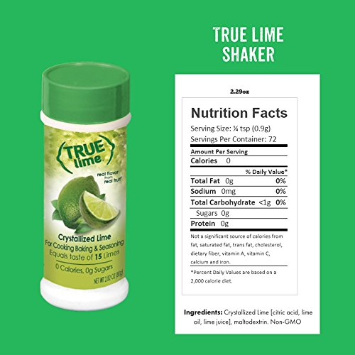 True Lime Crystallized Lime Shaker, 2.29 ounces (Pack of 6); For Cooking, Baking & Seasoning by True Lime (Image #1)