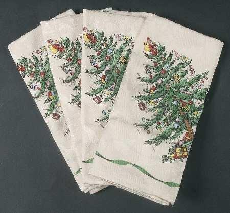 Spode Christmas Tree-Green Trim Set of 4 20