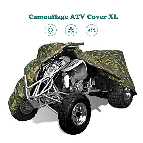 ATV Cover, INNOGLOW 190T Duty UV Resistant Camouflage 4-Wheeler Covers Fit 86