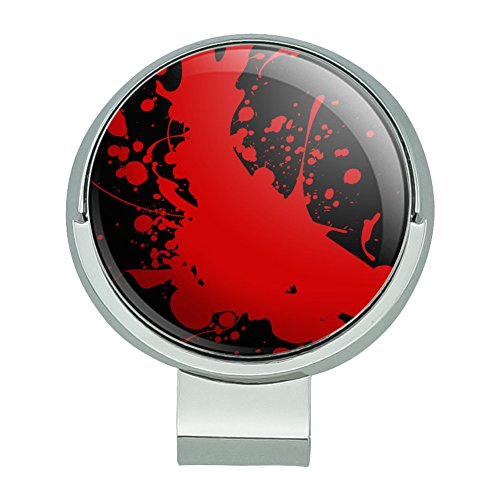 GRAPHICS & MORE Blood Splatter Classic Horror Movie Halloween Golf Hat Clip with Magnetic Ball -