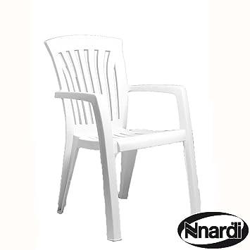 Nardi Lot de 4 chaises Blanc-Diana-Fauteuil de jardin classique en ...