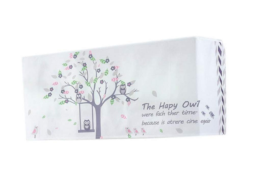 Gentle Meow Home Restaurant Dustproof Air Conditioner Cover, Owls On Swing
