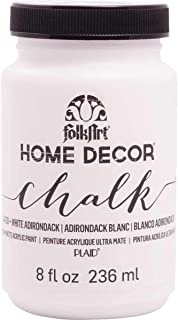 product image for FolkArt Home Decor Chalk Furniture & Craft Paint in Assorted Colors, 8 ounce, White Adirondack