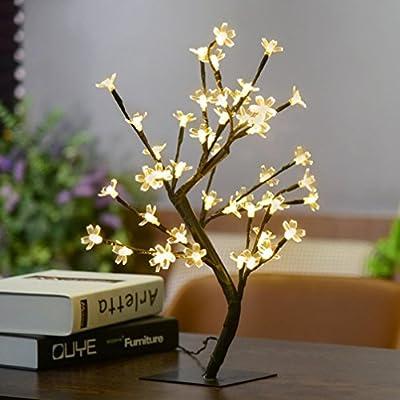 LED Light, Ikevan 1x 0.45M/17.72Inch Height Cherry Blossom Tree Light