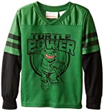 Teenage Mutant Ninja Turtles Boys' TMNT Football Jersey, Green, 4