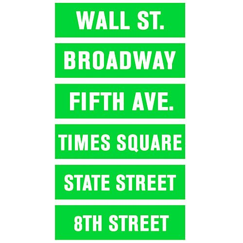 New York Street Sign Cut Outs Standup Photo Booth Prop Background Backdrop Party Decoration Decor Scene Setter Cardboard Cutout (Street Sign Cut Outs)