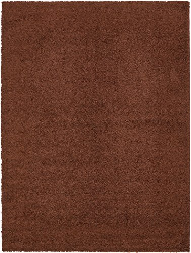 Unique Loom Solid Shag Collection Chocolate Brown 9 x 12 Area Rug (9' x 12') (9' Chocolate)