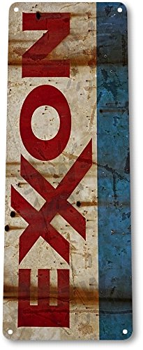 TIN SIGN B597 Exxon Rust Gas Oil Station Pump Rustic Metal Decor
