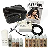 Art of Air Professional Airbrush Cosmetic Makeup System / Fair to Medium Shades 6pc Foundation Set with Blush, Bronzer, Shimmer and Primer Makeup Airbrush Kit offers
