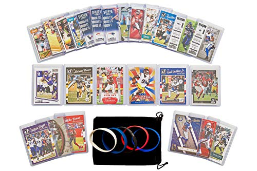 Football Cards: Fantasy WRs (25) Thielen, Beckham, Jones, JuJu, Brown, Fitzgerald, Johnson, Green, Adams, Hopkins, Thomas, Jackson, Bryant, Baldwin, Tate, Landry, Edelman, Allen, Thomas, Evans