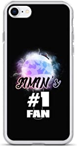 Jimin Phone Case for iPhone 7 and 8 with #1 Fan Glowing Army Bomb Lightstick Art Design on Thin Slim Mobile Device Cover | Kpop Mafia BTS Jimin Merchandise for Bangtan Boys Fandom