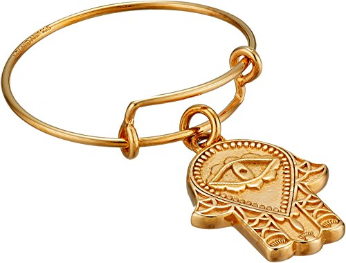 Alex and Ani Women's Precious Expandable Wire Ring Gold Hand of Fatima One Size