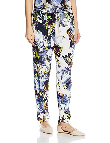 French Connection Kiki Palm Drape Tie Waste Trsr, Pantalones para Mujer Multicolor (BRULE MULTI 90)