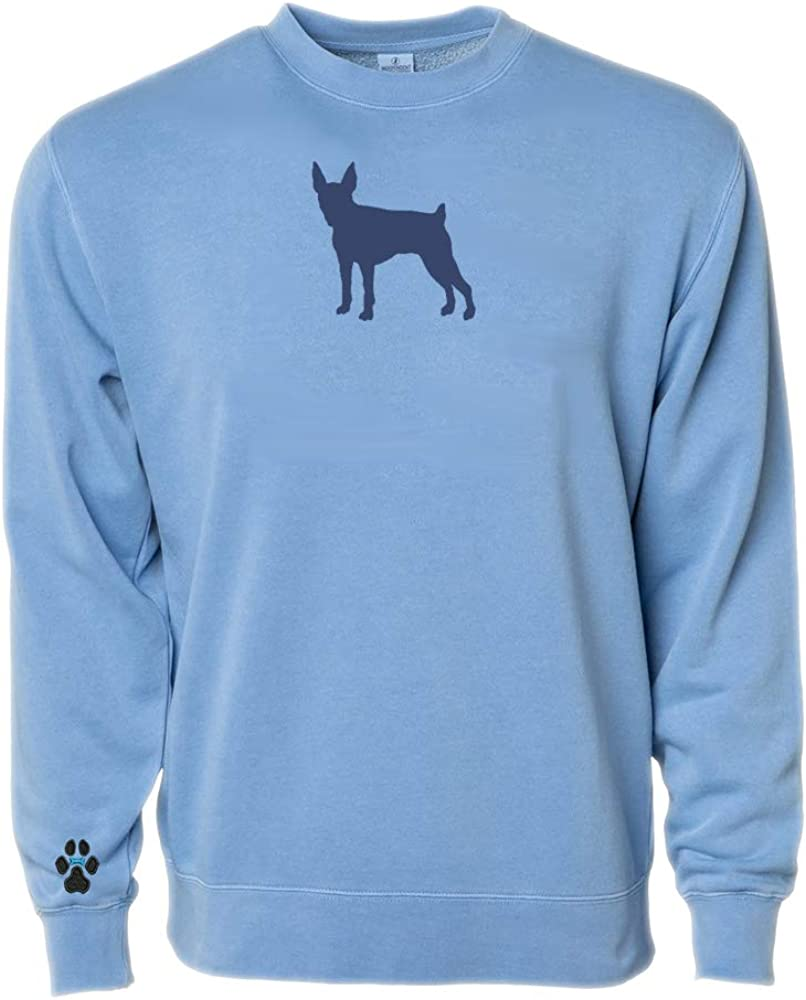 Heavyweight Pigment-Dyed Sweatshirt with Toy Fox Terrier Silhouette