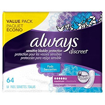 Always Discreet, Incontinence Pads, Maximum, Long Length, 39 Count. 6 CT by Always S