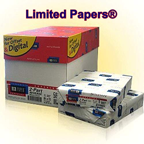 Limited Papers (TM) 250 Sets, NCR Paper, 5887, Collated 2 Part (White, Canary), Letter Size Carbonless Paper Appleton (10) by NCR (Image #1)