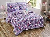 MK Home LLC 6pc Twin Size Comforter Set for Girls Unicorn Purple Blue Yellow White New