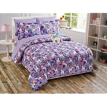 Amazon.com: MK Home LLC - Juego de edredón para niñas (7 ...