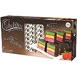 The Original Cakebites Classic Italian Rainbow Cake - Family Pack 4 - 2oz Cakebites