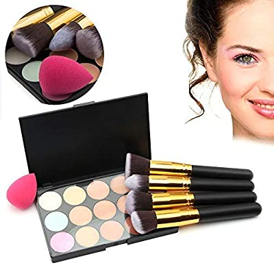 Goodfans Natural Concealer Palette With 4 Pcs Puff Brush Makeup T Concealers & Neutralizers