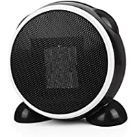 Crislan Space Heater- Personal Portable Mini Electric Ceramic Heater, Over-Heat Protection, Tilt-Protection, Multifunctional Rotatable Warm and Natural Wind for Home Office (Black one)