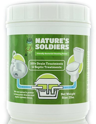 Drain Cleaner and Septic Tank Treatment. Safe Natural Enzymes. Powerful Bacteria.Nature's Soldiers. (2 lb)