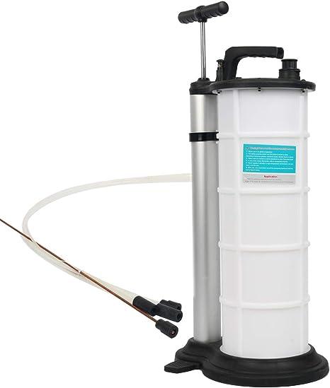 Pompe daspiration /à huile 9 l Pompe /à huile pour voiture Pompe /à vidange Pompe /à main Pompe daspiration