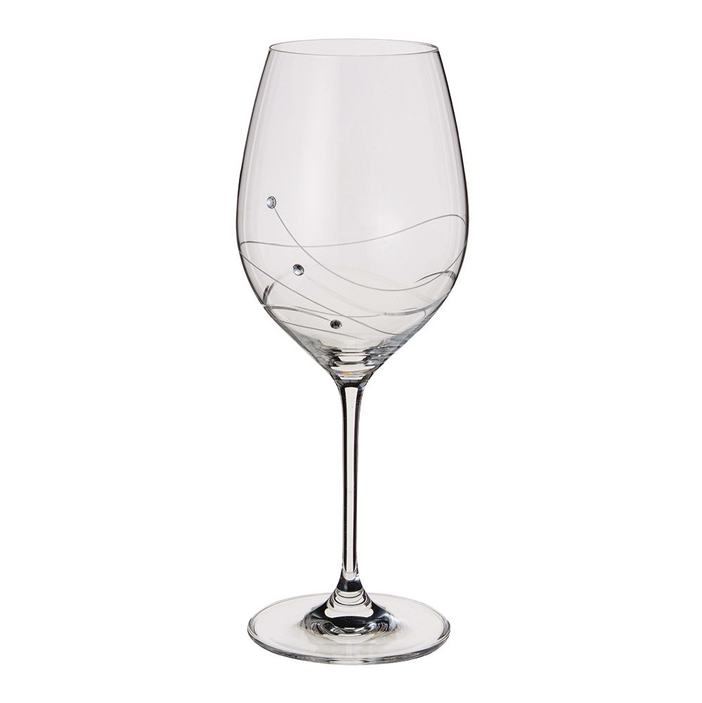 Dartington Crystal Glitz Goblet Wine Glasses, Set of 2 ST2557/4/P