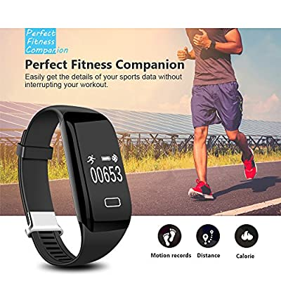 Fitness Tracker HR, Lesofod Activity Tracker with Wrist Based Heart Rate Monitor, IP57 Waterproof Smart Bracelet with Step Tracker Sleep Monitor Calorie Counter Pedometer Watch for Android and iOS