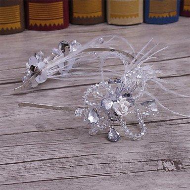 Christmas headdress HeadbandsFeather Crystal Alloy Headpiece-Wedding Special Occasion Casual Office & Career Outdoor Headbands 1 - Alloy Careers