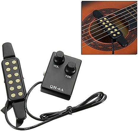 QH-6A - Pastilla de ecualizador magnética para guitarra acústica ...