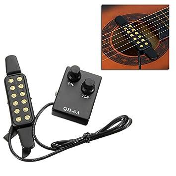 QH-6A - Pastilla de ecualizador magnética para guitarra acústica: Amazon.es: Instrumentos musicales