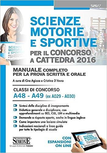 Amazon. It: scienze motorie e sportive. Classi di concorso a48-a49.