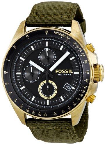 Fossil Mens Black Dial Watch (Fossil Men's DE5017 Decker Black Dial Watch)