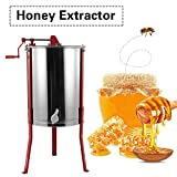 Honey Extractor, 4 Frame Stainless Steel Manual Crank Bee Honey Centrifuge Spinner Beekeeping Equipment for Beekeeper 102 x 50cm