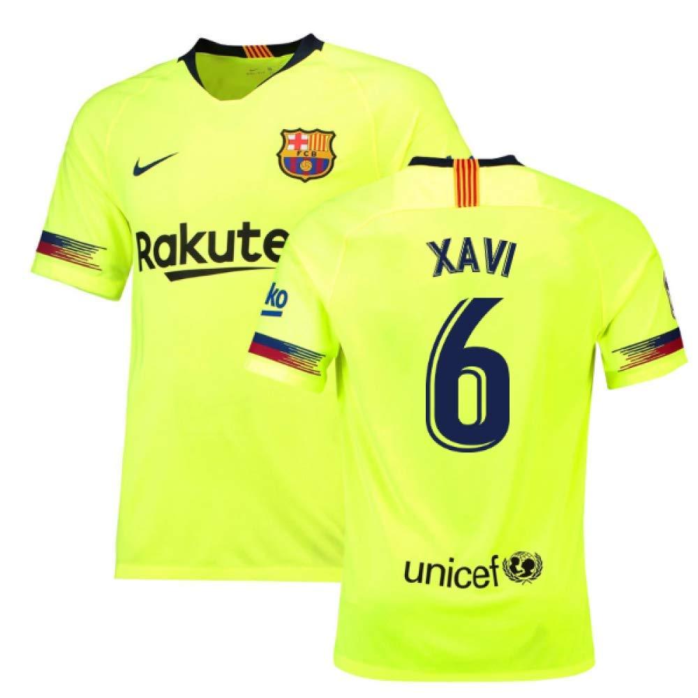 2018-19 Barcelona Away Football Soccer T-Shirt Trikot (Xavi 6)