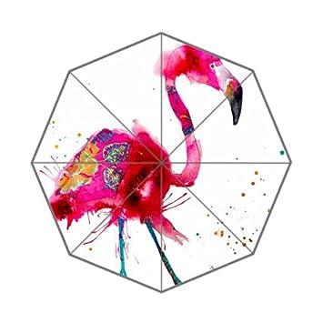 Paraguas con Diseño de Flamenco y Flipped de Verano, Color Rosa