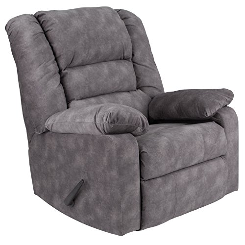 Flash Furniture Contemporary Super Soft Cody Gray Microfiber Rocker Recliner