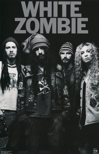 White zombie poster band shot black and white rob at amazons entertainment collectibles store