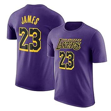 WYNBB Manga Corta Camiseta Lakers De Los Angeles No.23 James ...