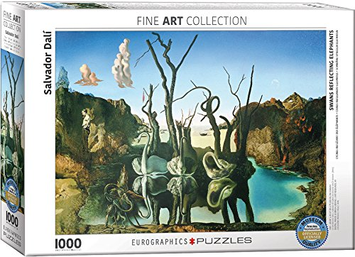 Les Elephants Dali - EuroGraphics Salvador Dalí Swans Reflecting Elephants Puzzle (1000 Piece)
