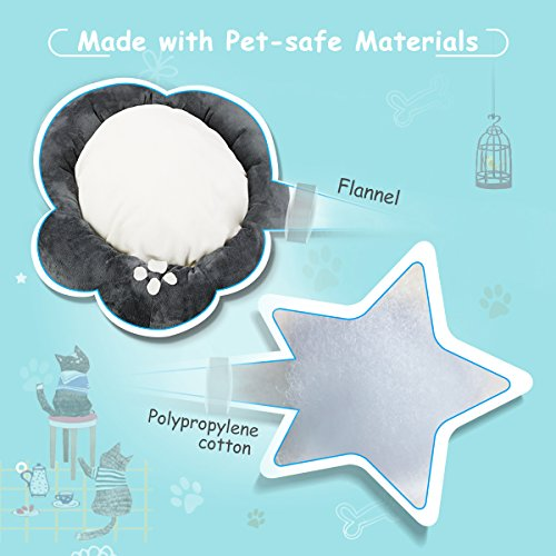 Cat-Dog-Bed-isYoung-Cozy-Bed-Warm-Bed-for-Cats-and-Small-Dogs-with-Anti-Slip-Bottom-and-Separate-Plush-Cushion