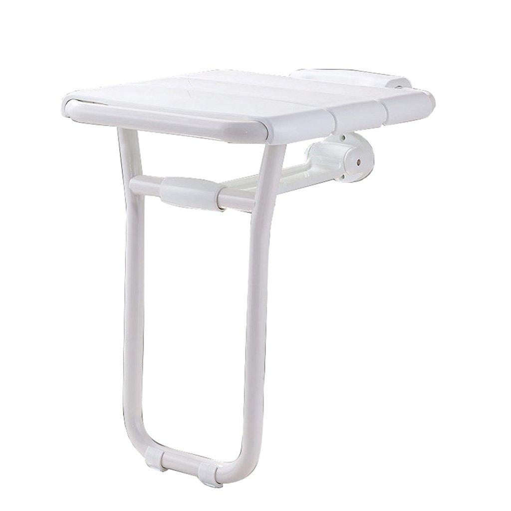 バスルームシャワールーム折り畳み式老人障害者浴室シャワーセキュリティウォールチェアウォールスツールシャワーウォールスツール (色 : 白) B07DFLFYWH  白