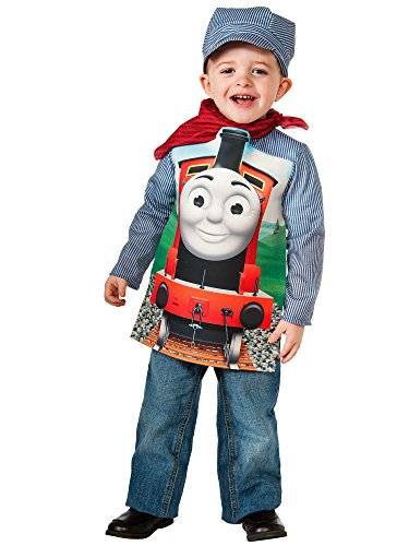 Rubies Thomas and Friends: Deluxe James The Red Engine and Engineer Costume, Toddler