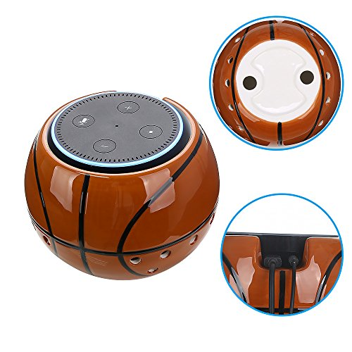 Price comparison product image COOSA Superb Basketball Holder Stand for Echo Dot 2nd and 1st Generation,  Alexa Protective Accesories Desk Holder Stand for Enhanced Stability (Basketball)