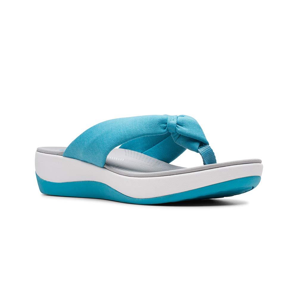 Clarks Womens Sandal Arla Glison Aqua