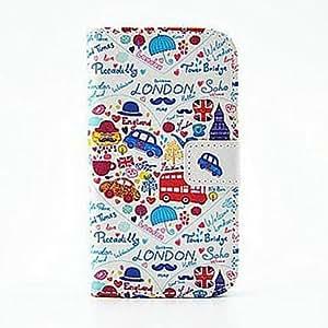 MOFY- de dibujos animados estilo de la carpeta de la PU cuero de la cubierta de cuerpo completo con soporte y tarjeta de la ranura para el iphone 6 m‡s