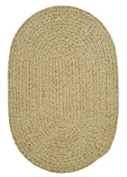 Spring Meadow Round Rug, 6-Feet, Sprout Green