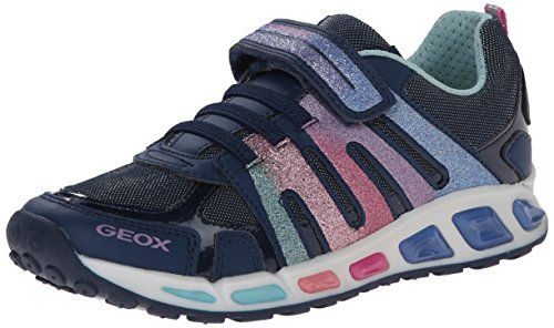 Geox Junior Shuttle Girl 2 Sneaker (Toddler/Little Kid/Big Kid), Navy, 35 EU (3.5 M US Big Kid)