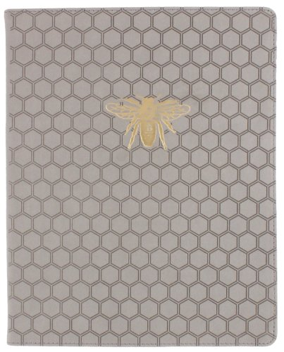 Eccolo World Traveler Desk Size Lofty Thinking Journal, Grey Bee